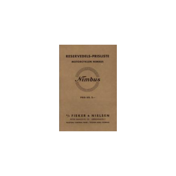 Reservedelskatalog 1938