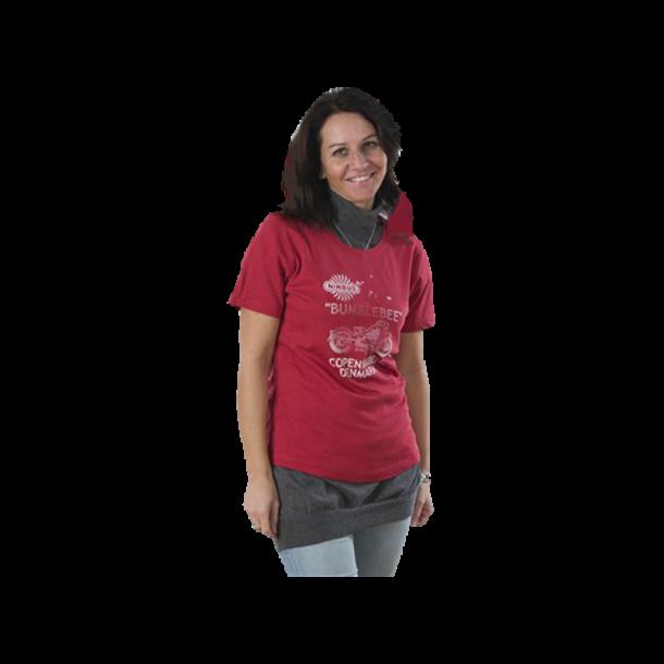 Dame T-shirt – Lys rød