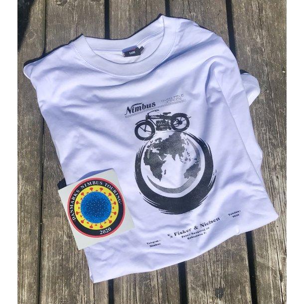 T-shirt med rør motiv incl. træfmærke til 15 kr.